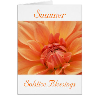 Solstice blessings with dahlia flower card