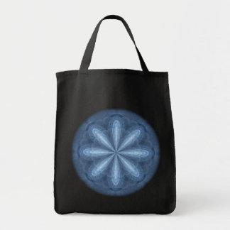 Solstice Bloom Kaleidoscope Mandala Tote Bag