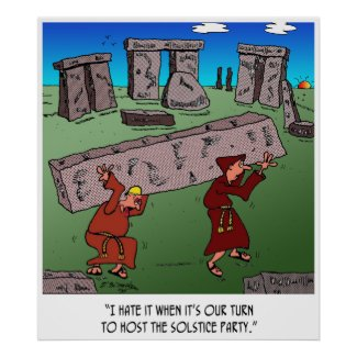 Solstice Cartoon 9494 Poster
