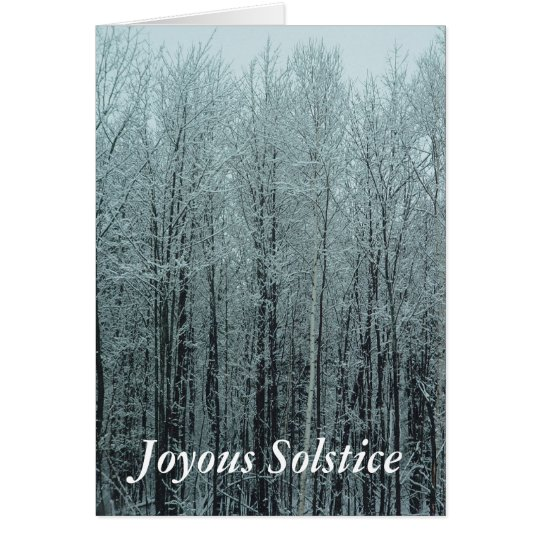 Solstice Forest Greeting Card