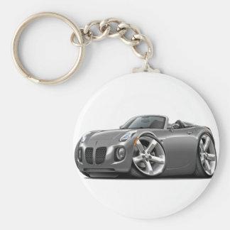 Solstice Grey Convertible Basic Round Button Keychain