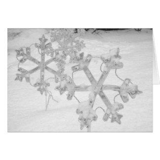 Solstice & New Year's: Snowy Snowflakes Card