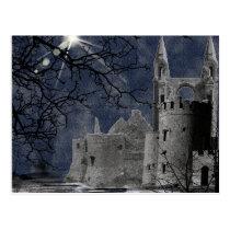 Solstice Night Gothic Landscape Postcard