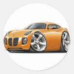 Solstice Orange Car Stickers