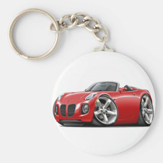 Solstice Red Convertible Basic Round Button Keychain