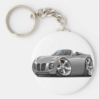 Solstice Silver Convertible Basic Round Button Keychain