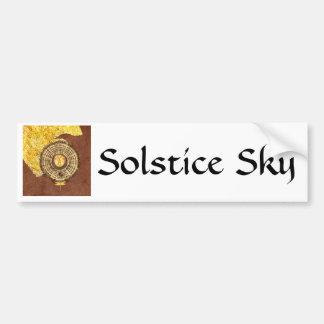 Solstice Sky - collage Car Bumper Sticker