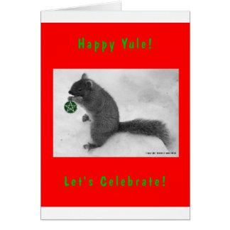 Solstice Squirrel Greeting Cards