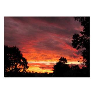 Solstice Sunset ~ ATC Business Card Template