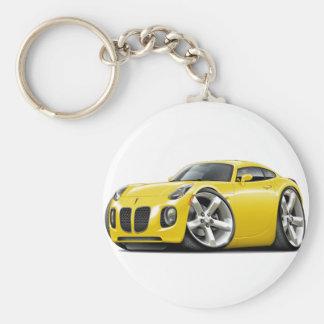 Solstice Yellow Car Basic Round Button Keychain
