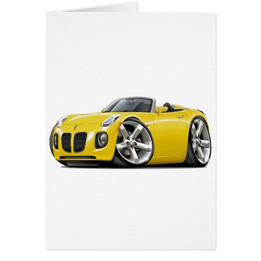 Solstice Yellow Convertible Card