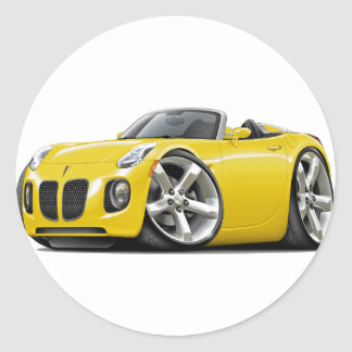 Solstice Yellow Convertible Classic Round Sticker