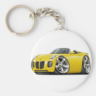 Solstice Yellow Convertible Basic Round Button Keychain