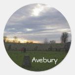 Solsticio de Avebury Pegatinas Redondas