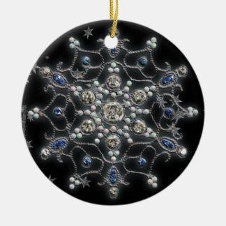 Solsticio de invierno adorno navideño redondo de cerámica