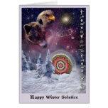 Solsticio de invierno de Chumash Felicitación
