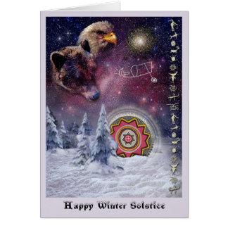 Solsticio de invierno de Chumash Tarjeta De Felicitación