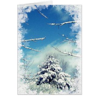 Solsticio de invierno del país de las maravillas tarjeta de felicitación