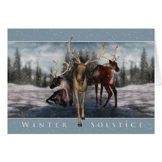 Solsticio de invierno - escena del invierno de los tarjeta de felicitación