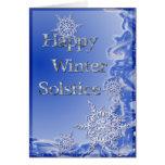 Solsticio de invierno feliz felicitación