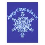 Solsticio de invierno feliz invitación personalizada