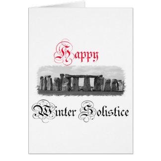Solsticio de invierno feliz Stonehenge Tarjeta