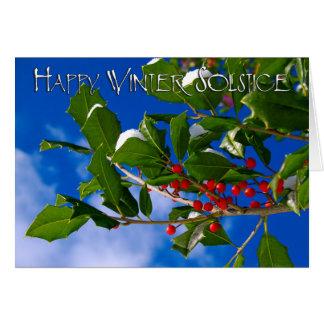 Solsticio de invierno feliz tarjeta de felicitación