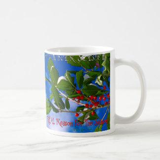 Solsticio de invierno feliz taza