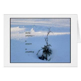 Solsticio de invierno Notecard Felicitacion