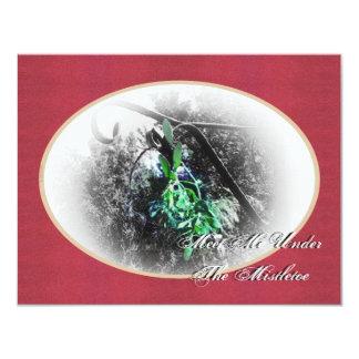 Solsticio de invierno rústico de Yule del muérdago Invitacion Personal