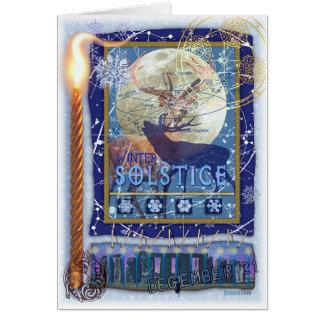 Solsticio de invierno tarjeta de felicitación