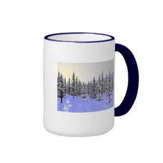Solsticio de invierno taza de dos colores