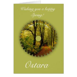 Solsticio de la primavera de Ostara con paisaje de Tarjeta De Felicitación