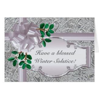 Solsticio de plata tarjeta de felicitación