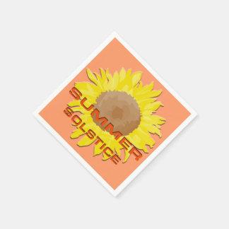 Solsticio de verano servilletas desechables