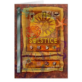 Solsticio de verano tarjeta de felicitación