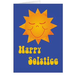 Solsticio feliz 1 de Sun Tarjeta De Felicitación