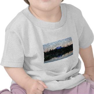 Soltero del Mt, Oregon, en el amanecer Camisetas