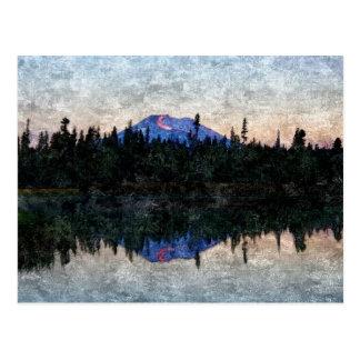 Soltero del Mt, Oregon, en el amanecer Postales