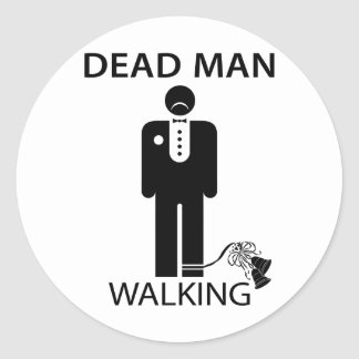 Soltero: Pegatina que camina del hombre muerto