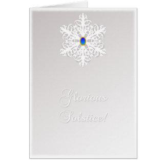 Soltice glorioso tarjeta de felicitación