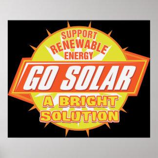 Solución de energía solar póster