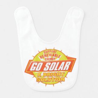Solución de energía solar babero para bebé