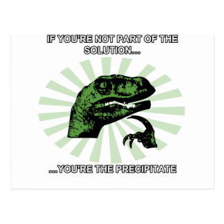 Solución de Philosoraptor divertida Tarjeta Postal