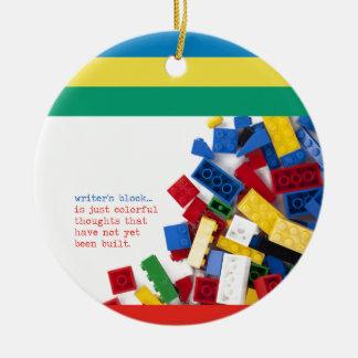 Solución del bloque del escritor creativo ornamentos de navidad