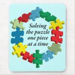 Solucionando el rompecabezas… Mousepad azul Alfombrillas De Ratones