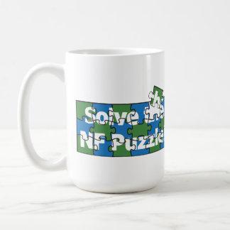 Solucione el rompecabezas del N-F Taza Básica Blanca