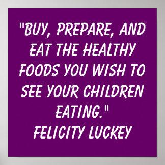 Soluciones de la obesidad de la niñez póster