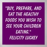 Soluciones de la obesidad de la niñez posters