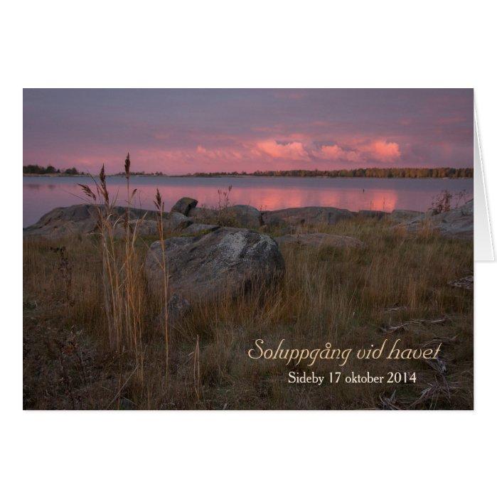 Soluppgång vid havet CC0759 Sideby Siipyy